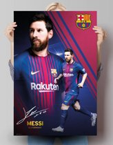 Lionel Messi FC Barcelona 17/18 - Poster 61 x 91.5 cm - Collage