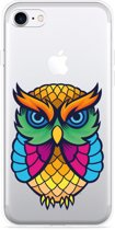 iPhone 7 Hoesje Colorful Owl Artwork