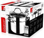 Bergner Gourmet Pastapan - RVS - 5 l