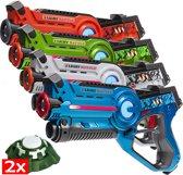 4 Light Battle laserpistolen + 2 Targets | Regenboog lasergame set