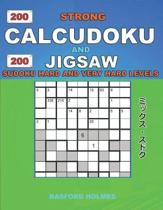 200 Strong Calcudoku and 200 Jigsaw Sudoku. Hard and very hard levels.