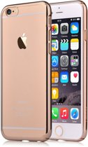 Glitter Soft Case Cover TPU voor Apple Iphone 7 Champagne Goud
