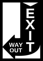 Art for the Home - Metal Art - Exit - Zwart - 35x50cm