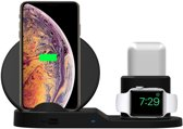 3 in 1 Docking Station Oplaadstation voor Apple iPhone, Apple Watch en Apple Airpods - Draadloze Qi Fast Charge Oplader van TechNow