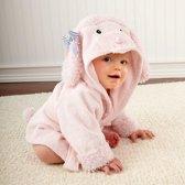 Baby Badjas - Badjas voor baby - Baby borstel & kam - Poedel - Kraamcadeau