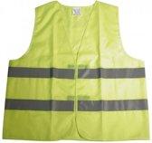 Super Reflecterend Geel Veiligheidsvest  One Size | Fluorescerend | Veiligheids Vest | Veiligheidshesje | Wegwerkersvest | Werkkleding | Hesje voor Doe het zelf | Veiligheid | Pech | BHV | Fluor | Werkkleding en Bescherming - DisQounts