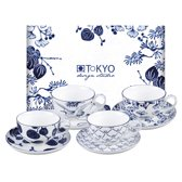 Tokyo Design Studio - Flora Japonica Cup/Saucer Giftset 4pcs 250ml