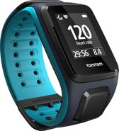 TomTom Runner 2 Music GPS Watch + BT HP blue / scuba blue - large