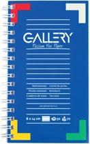 Gallery notitieboekje formaat 14 x 8 cm gelijnd 100 bladzijden