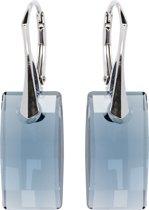 Zilveren Oorbellen met Swarovski Elements Urban Denim Blue