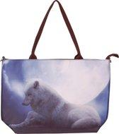 Handtas groot wolf-