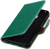 Samsung Galaxy A3 2016 A310F Green | Premium PU Leder bookstyle / book case/ wallet case  | WN™