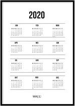 Jaarkalender 2020 Poster - 50x70cm – WALLLL