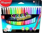 Color'peps goed uitwasbare viltstift x 18