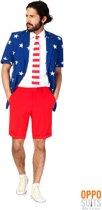 OppoSuits Summer Stars and Stripes - Kostuum - Maat 52 - Carnavalskleding