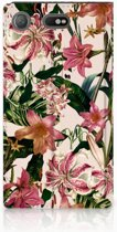 Sony Xperia XZ1 Compact Standcase Hoesje Flowers