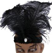 Charleston hoofdband met veren