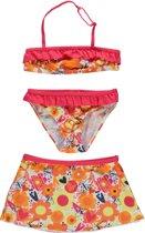 Losan Meisjes Bikini met rokje Lichtrood met bloemen - Maat 104