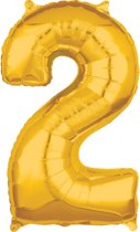 26 Number 2 Gold 26 Inch Foil Balloon P31 packed 43 x 66cm
