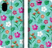 Mobigear Tropical Design Wallet Bookcase Hoesje 9 iPhone Xs Max