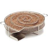 Krumble Smokerbox rond ø20cm / Ronde rookbox voor het koud roken van vlees, vis, kaas of andere etenswaren in de barbecue of smoker - RVS