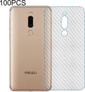Let op type!! 100 PCS Carbon Fiber materiaal Skin sticker terug beschermende film voor Meizu Note 9