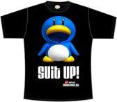 Nintendo Maat XL Zwart Suit Up Heren T-shirt