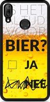 Huawei Y7 2019 Hardcase hoesje Is het al tijd voor bier?
