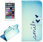 iphone 6 / 6s (4.7 inch) Flip Cover, hoesje, case Smile + Creditcard Vakjes