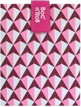 Roll eat herbruikbaar boterhamzakje Boc and Roll Tiles Pink