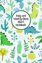 Daily and Weekly Chore Chart Notebook: Responsibility Tracker for Children With Coloring Section