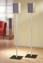 Speakerstandaard set van 2 Sulivo Maxi aluminium / zwart glas