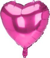 Folie ballon hart roze - OP = OP