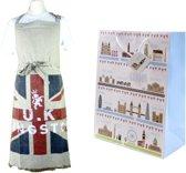 Mars & More keukenschort Engeland + Londen cadeautas kadotas