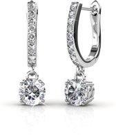 Yolora Swarovski kristal Oorbellen – Strike me - Dames - Zilverkleurig