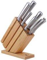 Messenblok - Messenset 7 delig – RVS – Exclusieve houten Oxberg Aanbieding !