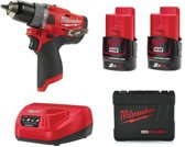 Milwaukee M12 FPD-202X 12V Li-Ion accu Klopboor-/schroefmachine set (2x 2,0Ah accu) in HD Box - koolborstelloos