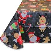 Unique Living Christmas Party Tafelkleed - Zwart - 140x230 cm