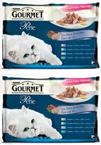 Gourmet Perle 4X85G Duo Van Vis per 2 verpakkingen!
