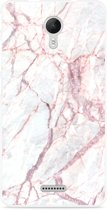 Wiko Jerry 2 Hoesje White Pink Marble