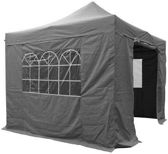 Easy Up Partytent - grijs/antraciet - 3 x 3 m