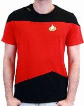 Merchandising STAR TREK - T-Shirt NEXT GENERATION Red Uniform (M)