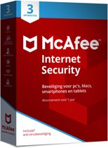McAfee Internet Security 2018 - 3 Apparaten - Nederlands - Windows / Mac / iOS / Android