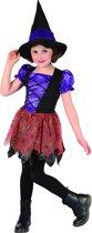 Verkleedkostuum heks paars voor meisjes Halloween  - Verkleedkleding - 128/134