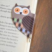 Boekenlegger - Uil - Bladwijzer met pen - magnetisch