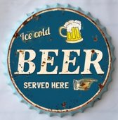 Decoratie bord ice cold Beer