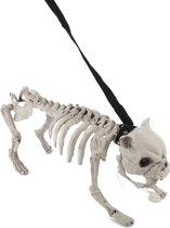 Hond skelet met riem met licht en geluid - Feestdecoratievoorwerp