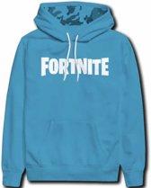 Fortnite sweater - hoodie - lichtblauw - maat 152 cm / 12 jaar