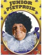 Zwarte pieten pruik voor kinderen