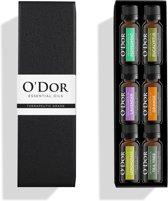 O'dor® Essentiële Etherische Olie Aromatherapie Cadeau Set - 100% puur Therapeutische-Grade Aroma Olie - Premium Kwaliteit : Pepermunt, Lavendel, Orange, Eucalyptus, Lemoengras, Theeboom